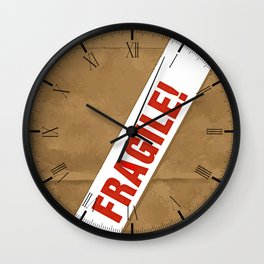 Fragile With Care Wall Clock