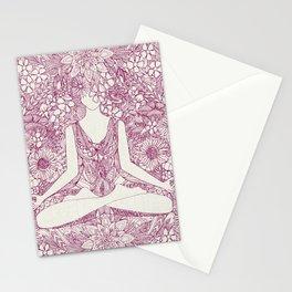 lotus garden vintage plum Stationery Cards