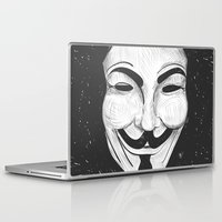 anonymous Laptop & iPad Skins featuring Anonymous by nicole carmagnini