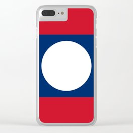 Laos Flag Clear iPhone Case