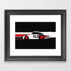 Moby Dick - Vintage Porsche 935/70 Le Mans Race Car Framed Art Print