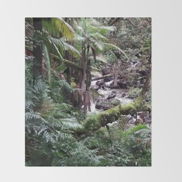 Tropical Forest 09 Throw Blanket