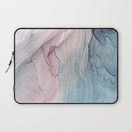 Calming Pastel Flow- Blush, grey and blue Laptop Sleeve