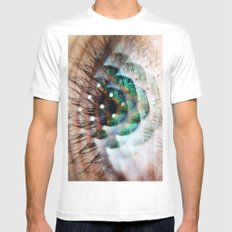 Green Eyed Beauty White Mens Fitted Tee MEDIUM