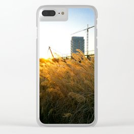 City view in spring Clear iPhone Case
