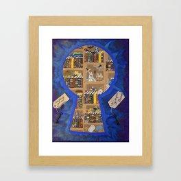 My Dream Library Framed Art Print