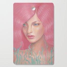 Pink Waves Cutting Board