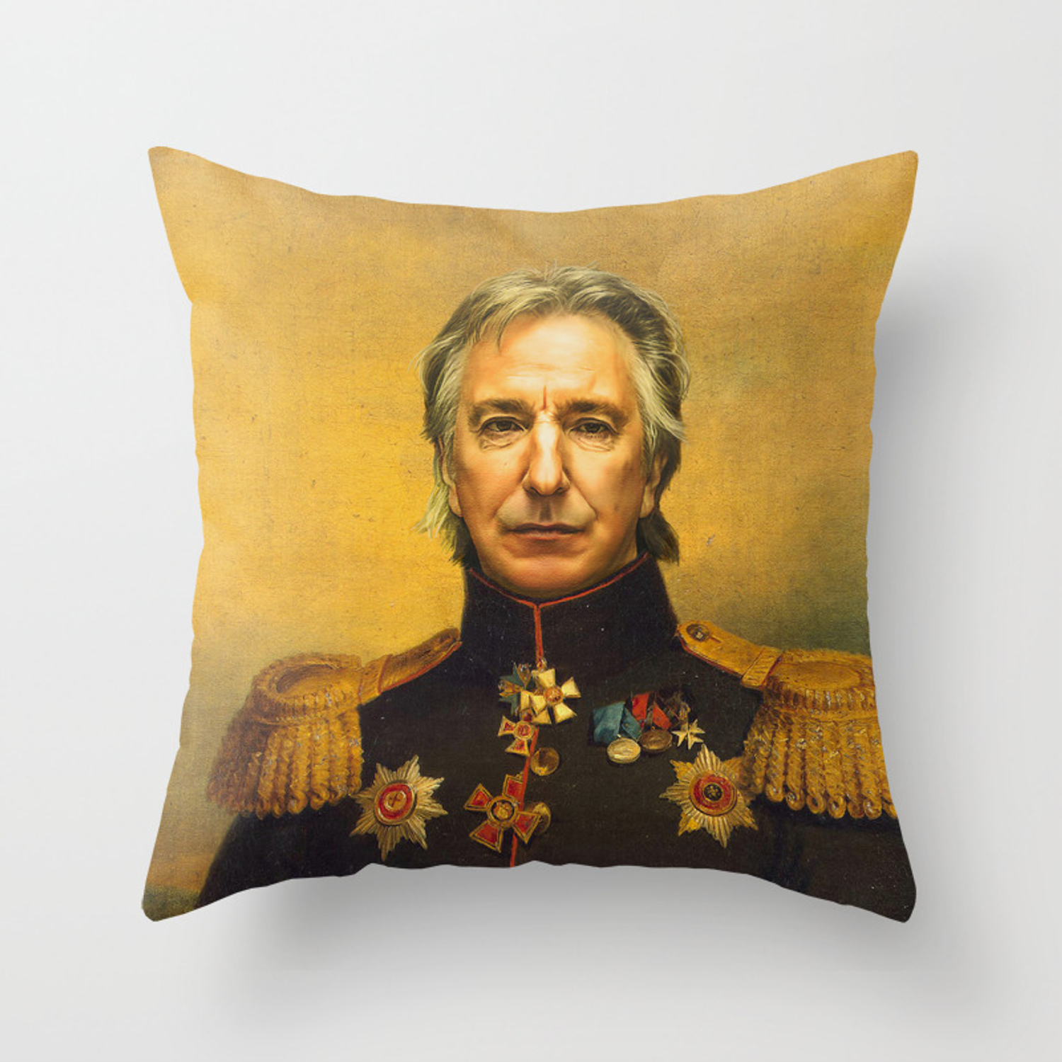 Alan Rickman Replaceface Throw Pillow By Replaceface Society6
