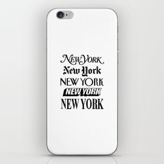 I Heart New York City Black and White New York Poster I Love NYC Design black-white home wall decor iPhone Skin