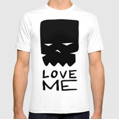 LOVE ME SMALL Mens Fitted Tee White