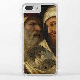 "Circle of Giorgio de Castelfranco called Giorgione ""Two Philosophers"" Clear iPhone Case"