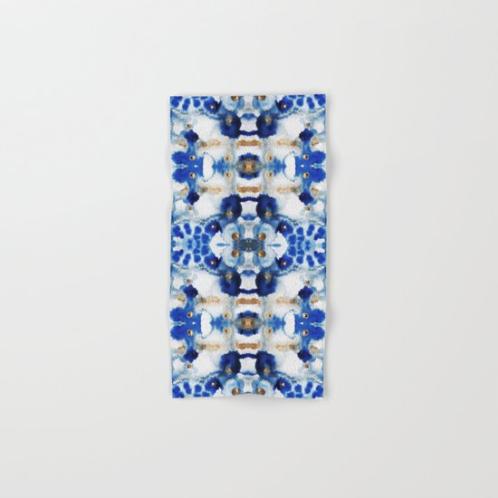 Symmetric Blue Hand & Bath Towel