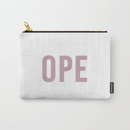 OPE Pink Text Carry-All Pouch
