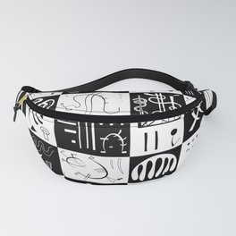 Kandinsky - Black and White Pattern - Abstract Art Fanny Pack