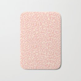 Leopard Print | Pastel Pink Girly Bedroom Cute | Cheetah texture pattern Bath Mat