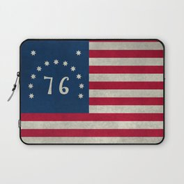 American Bennington flag - Vintage Stone Textured Laptop Sleeve