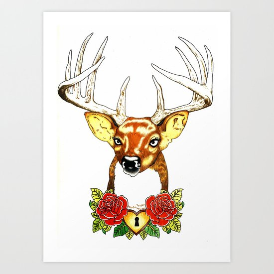 Oh deer. Art Print