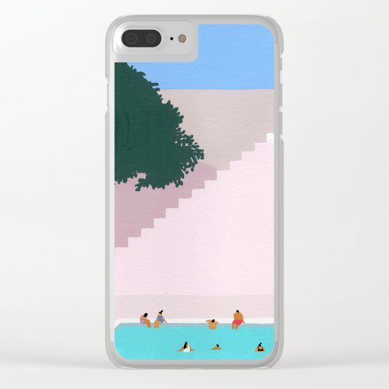 Greece Bliss Clear iPhone Case