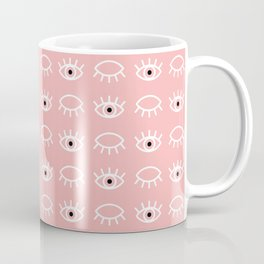 Eyes Wide Open Pink Coffee Mug