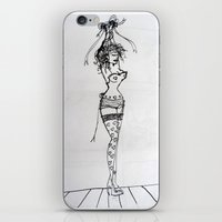burlesque iPhone & iPod Skins featuring Burlesque by Frances Roughton