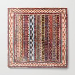 Qashqa'i Amaleh Fars Southwest Persian Rug Metal Print