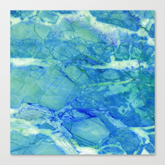 Sea blue marble Canvas Print