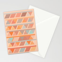 Muted Earth Tones Abstract Geometric Pattern Stationery Cards