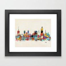 Tulsa Oklahoma skyline Framed Art Print