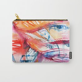 Abstract watercolor painting with faces Carry-All Pouch