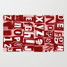 Ransom Letters Rug