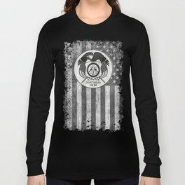 Faith Hope Liberty & Freedom Eagle on US flag Long Sleeve T-shirt