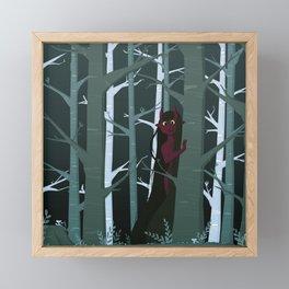 Demon Girl Framed Mini Art Print