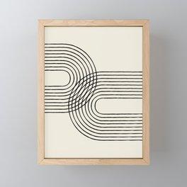 Arch duo 2 Mid century modern Framed Mini Art Print