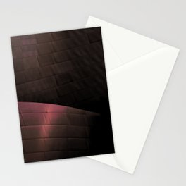 Deep Red architectural abstract of the LA Phil designed by Frank Gehry Stationery Cards