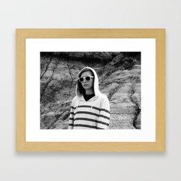 Badlands Kind of Girl Framed Art Print