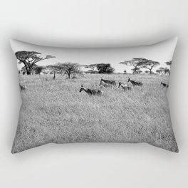 Impala in the grass Rectangular Pillow