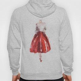 Red skirt / red lips Hoody