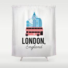London, England Shower Curtain
