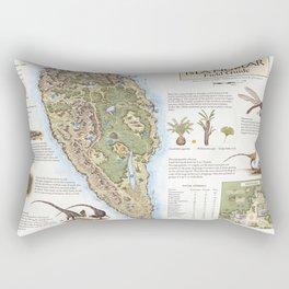 Isla Nublar Field Guide - Jurassic Park map Rectangular Pillow
