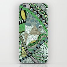 The fish who dreamed of sunflowers and buttons iPhone & iPod Skin
