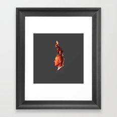A rabbit Framed Art Print
