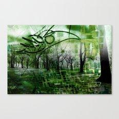 Retrollage 2.. Canvas Print