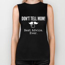 Don't Tell Mom Best Fathers Day Gift for Dad Dark Biker Tank