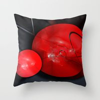gym Throw Pillows featuring Gym Balls by Digital-Art