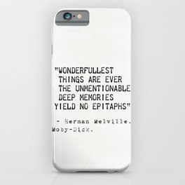 Moby Dick Herman Melville quote 18 iPhone Case