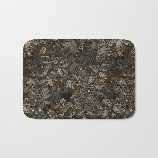 Fit In (autumn night colors) Bath Mat