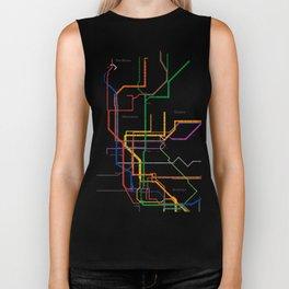 New York City subway map Biker Tank