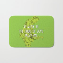 If Music Be the Food of Love, Play On - analog zine Bath Mat