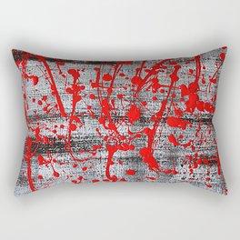Blood Splatter Rectangular Pillow