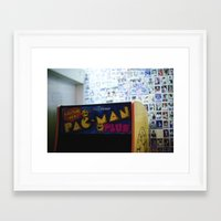 pac man Framed Art Prints featuring Pac-Man by Javier F. Díaz
